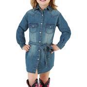 Wrangler Girl's Long Sleeve Denim Dress