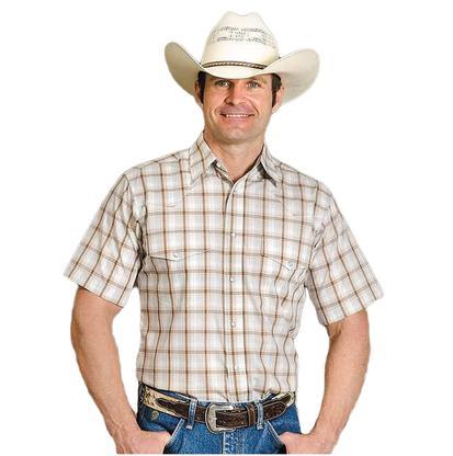 Wrangler Mens Wrinkle Resistant Plaid Shirt