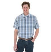 Wrangler Mens Short Sleeve Poplin Plaid