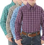 Wrangler Boys' Riata Button Plaid Shirt