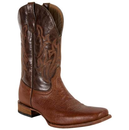 Corral Men's Ostrich Leather Square Toe Boots
