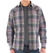 Wrangler Mens Retro Plaid Grey Shirt