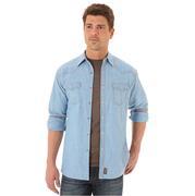 Wrangler Men's Retro Long Sleeve Denim Snap Shirt
