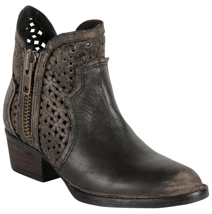 Circle G Womens Ankle Cowhide Round Toe Boot