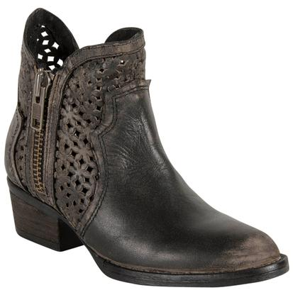 Circle G Ankle Boot Cowhide Round Toe Boot