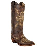 Circle G Crackle Cross Boots