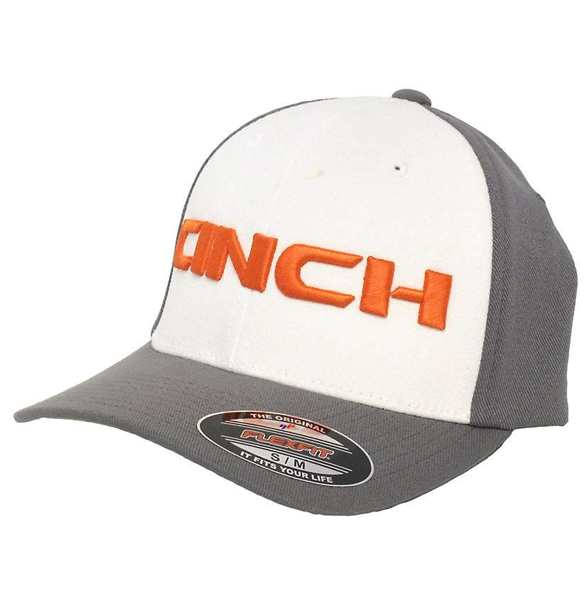 Cinch Western Men's Mid Profile Gray Flexfit Cap