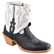 Twisted X Boots Women's Black/White Leather
