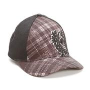 Cinch Men's Grey/Black Plaid Embroidered Cap