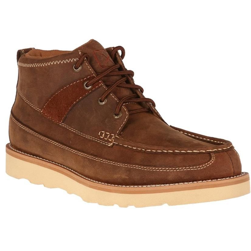 Twisted X Oiled Brown Leather Boots - Moc Toe