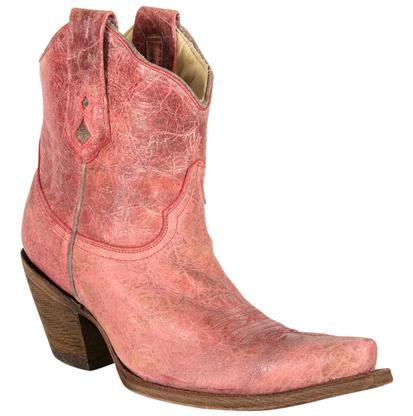 Corral Pink Ankle Boots