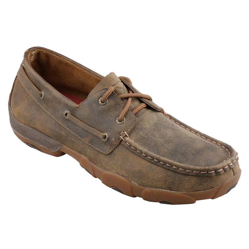 Twisted X Mens Lace Up Boat Shoe