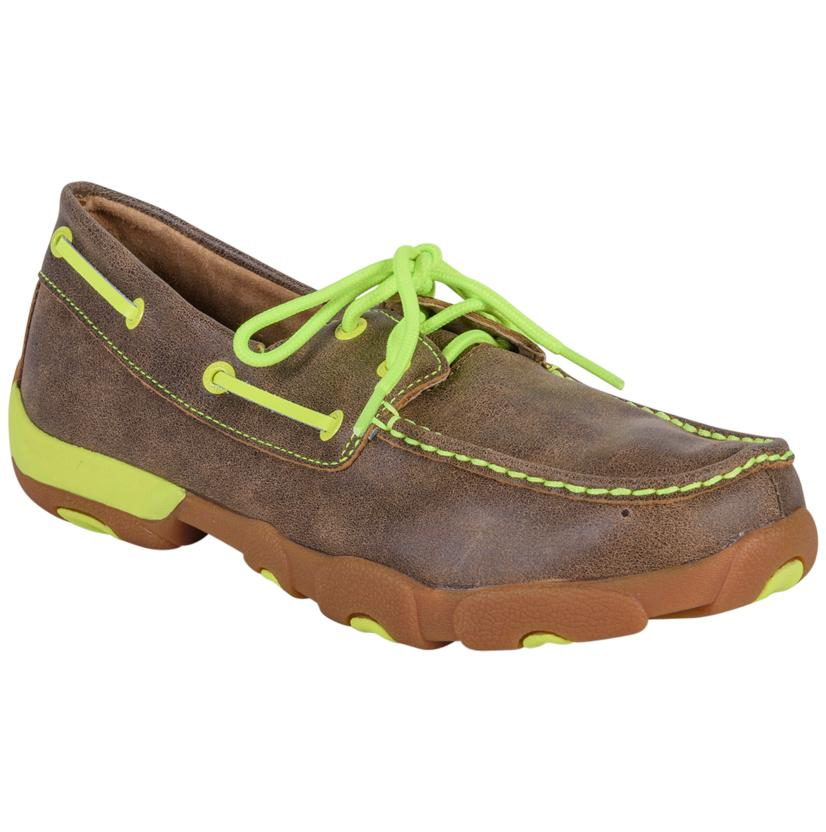 Twisted X Men's Neon Yellow Moccasins