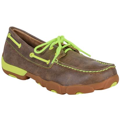 Twisted X Mens Neon Yellow Moccasins