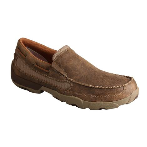 Twisted X Mens Slip On Boat Shoe