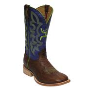 Twisted X Men's Hooey Purple and Lime Cowboy Boots