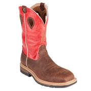 Twisted X Mens Boots Red Leather Steel Toe