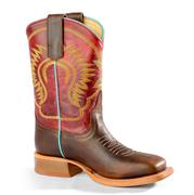 Anderson Bean Kids Red Glove Moka Pit Bull Vamp Western Boots - Kid Sizes 9-13, Big Kids 1-3