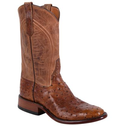Rios of Mercedes Men's Full Quill Ostrich Cowboy Boots