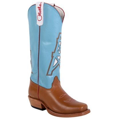 Olathe Kids Turquoise Tan Western Boots
