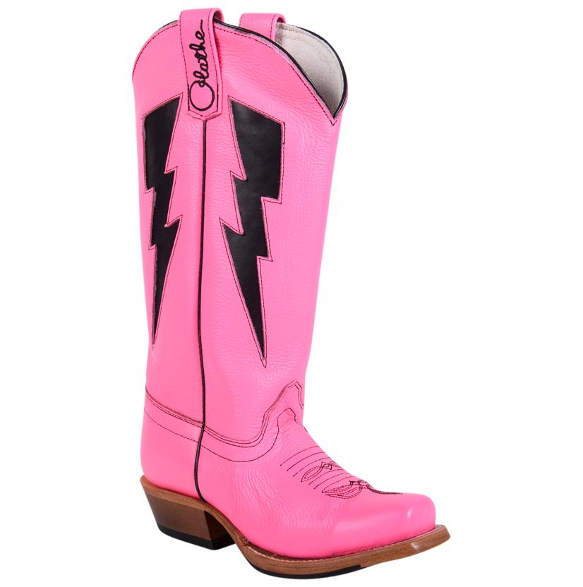 Olathe Pink Day Glow Tall Boots