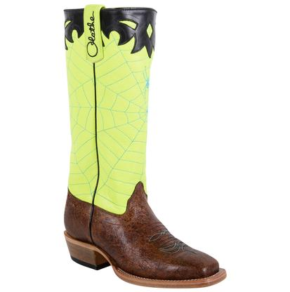 Olathe Kids' Lime Spider Web Top Boot