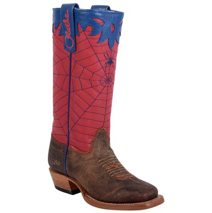 Olathe Kids' Red Spider Web Cowboy Boots
