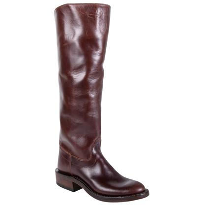 Olathe Chocolate Leather Polo Boots