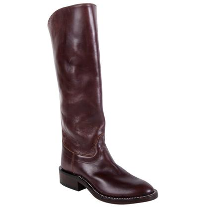 Olathe Mens Chocolate Leather Polo Boots