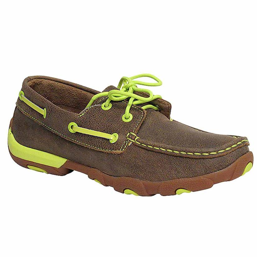 Twisted X Women's Neon Yellow Driving Moccasins