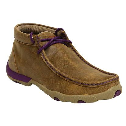Women's Twisted X Bomber with Purple Driving Mocs