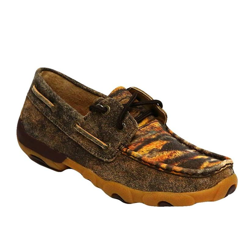Twisted X Women's Shoes Driving Moc Tiger Pattern