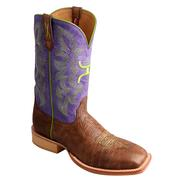 Twisted X TWISTED X HOOey Western Boots Womens Tribal Square Logo Brown / Purple