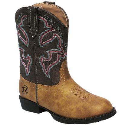 Roper Little Kid Brown and Tan Cody Boot