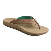 Women's Twisted X Bomber Brown Flip Flops with Turquoise Accents