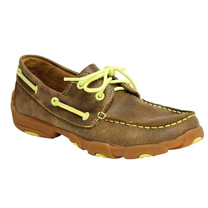 Twisted X Youth Neon Yellow Moccasins