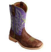 Twisted X Boots Children's Cowkid's Hooey Purple / Green