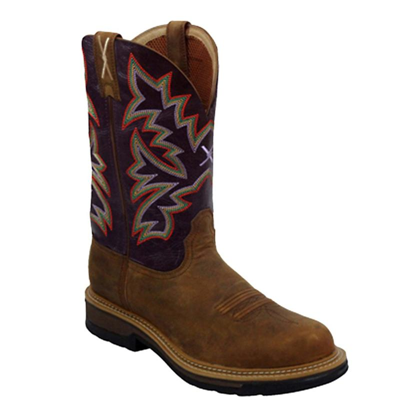 169cfa71bd5 Twisted X Mens Boots Lite Weight Steel Toe Cowboy Work Boot