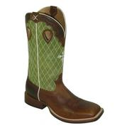 Twisted X Mens Ruff Stock Olive Top Boot