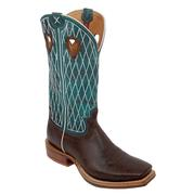 Twisted X Men's Ruff Stock Boots Gold Buckle - Copper / Turquoise
