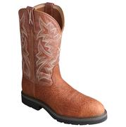 Twisted X Mens Cowboy Steel Toe Brown Work Boots