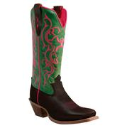 Twisted X Womens Hooey Brown/Lime Boot