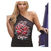 Cruel Girl Crystal Rose One Shoulder