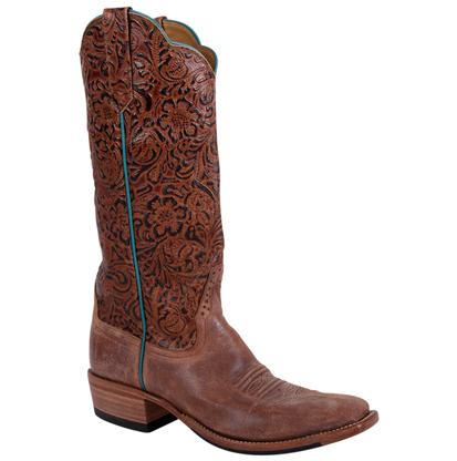 Rios of Mercedes Double Face Chili Tooled Womens Boots