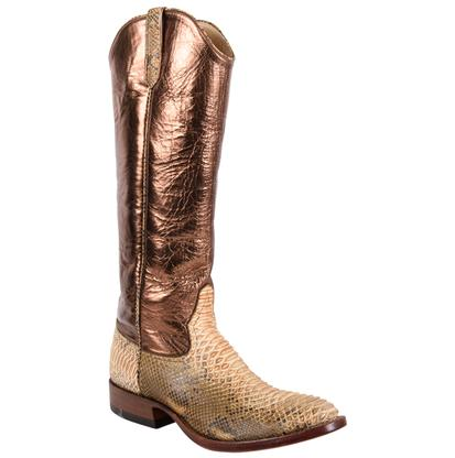 Rios of Mercedes Mens Copper Python Boot