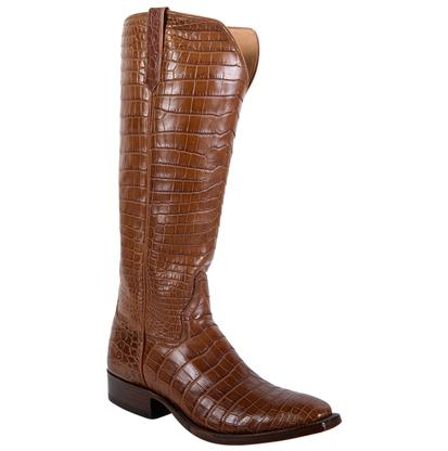 Rios of Mercedes Tan Oil Belly Croc Ladies Boot