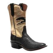 Rios of Mercedes Blk Metalic Gold Ostrich Women's Boots