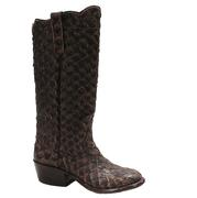 Rios of Mercedes Pirarucu Brown Vintage Allover Womens Boot