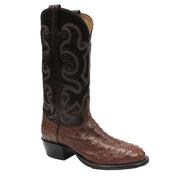 Tony Lama Men's Coffee Vintage Exotic Full Quill Ostrich Western Boots
