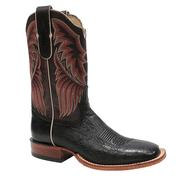 Tony Lama Men's Round Toe Black Smooth Ostrich Boots